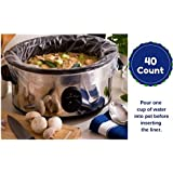 Large Slow Cooker Liners Fits Up To 7-8 Quart Crock Pots 40 Ct