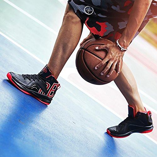 Scarpe Sportive Da Corsa Da Uomo N.66 Da Uomo Con Ammortizzazione Scarpe Da Ginnastica Sneaker Nere-rosse