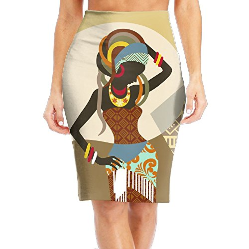WOAIDY African Art Women Women's Fashion Printed Pencil Skirt