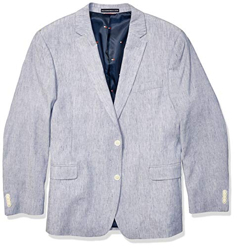 Tommy Hilfiger Men's Modern Fit Stretch Comfort Blazer, Faded Denim, 38S