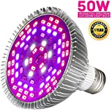Yeuloum 50W Led Grow Light Bulb, Led Plant Bulb Full Spectrum Growing Lamp for Indoor Plants Vegetables and Seedlings, LED Plant Light Bulb for Hydroponics Indoor Garden Greenhouse and Organic Soil
