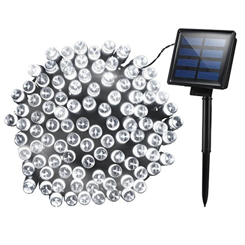 Mpow Solar, 72ft 200LED Christmas Fairy String Lights, Cool White]()
