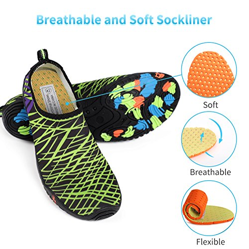 Dry Shoes Beach Barefoot Z for Quick Aqua Green Heeta c Water Women Swim thick Sports Men Socks Shoes Swim 0wpxS7q
