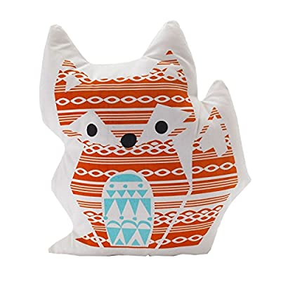 Lolli Living Woods Character Cushion - Fox - Premium 100% cotton canvas shell with cozy polyester fill Perfect gift idea Measures approximately 15 inches long - living-room-soft-furnishings, living-room, decorative-pillows - 51lrP7YPWXL. SS400  -