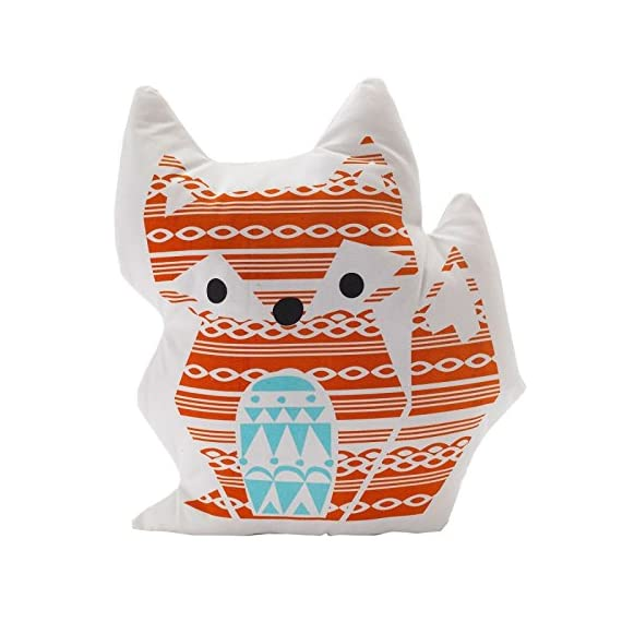 Lolli Living Woods Character Cushion - Fox - Premium 100% cotton canvas shell with cozy polyester fill Perfect gift idea Measures approximately 15 inches long - living-room-soft-furnishings, living-room, decorative-pillows - 51lrP7YPWXL. SS570  -