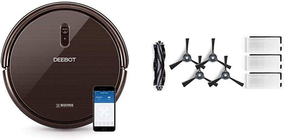 Ecovacs Deebot N79S - Robot Aspirador navegación aleatoria, Control por App y Alexa, WiFi, 4 Modos de Limpieza, 2 Niveles de succión, Suelos Duros y alfombras + DN622-KTA Accesorios: Amazon.es: Hogar