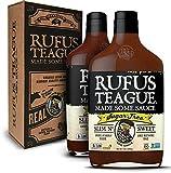 Rufus Teague: Sugar-Free BBQ Sauce - Premium BBQ Sauce- Natural Ingredients - Award Winning Flavors - Thick & Rich Sauce - Made with Stevia- Keto, Gluten-Free, Kosher, & Non-GMO - 2pk
