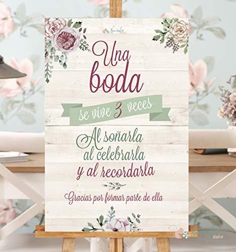 Noviembre Dulce Cartel de Boda Una Boda se Vive 3 Veces ...