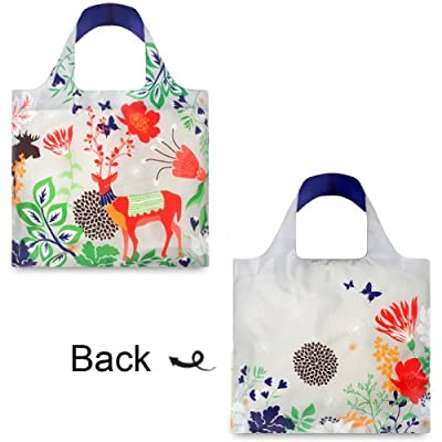 LOQI Forest Deer Reusable Shopping Bag, Multicolor