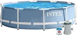 حوض سباحة بإطار معدني وفلتر من انتكس 28702، 4.485 لتر – 305×76 سم