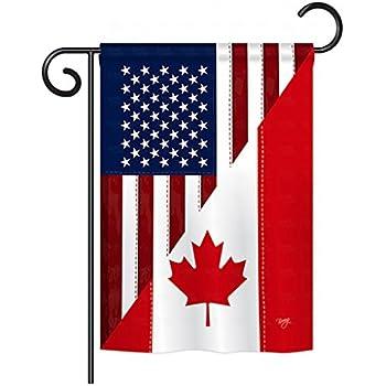 5dd3221d9c6b Breeze Decor G158190 US Canada Friendship Flags of the World US Friendship  Impressions Decorative Vertical Garden Flag 13