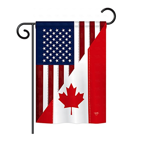 Breeze Decor G158190 US Canada Friendship Flags of the World