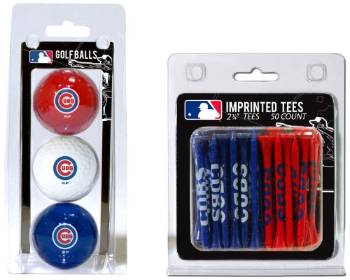 Team Golf MLB Chicago Cubs Logo Imprinted Golf Balls (3 Count) & 2-3/4