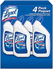 Lysol Toilet Bowl Cleaner, Power, Complete Clean, Family Pack, 4 x 946 ml, 10X Cleaning Power