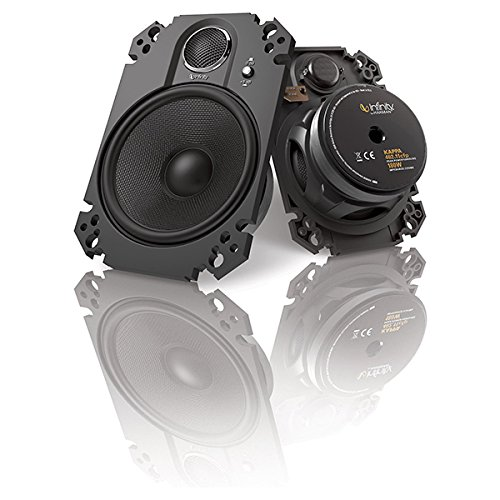 "Infinity Kappa 4""x6"" 2-Way Loudspeakers-Pair (Black)"
