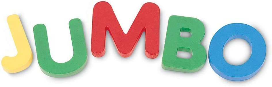 Learning Resources Jumbo Magnetic Uppercase Letters, ABCs, Early Letter Recognition, 40-Pieces, Assorted Colors, Ages 3+: Office Products
