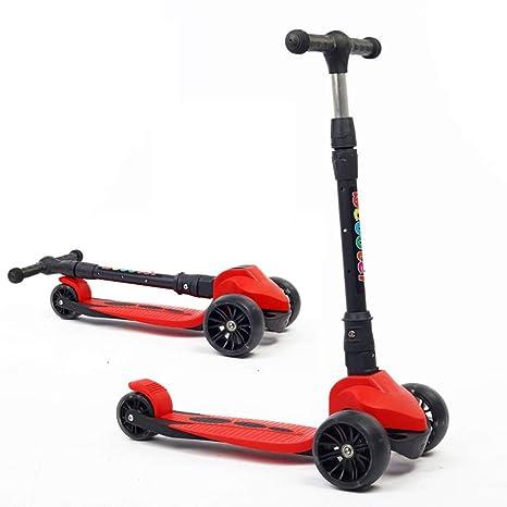 Scooter para Niños Scooters para Niños De 2 A 10 Años con Ruedas De PU Paseos