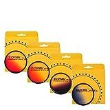 ZOMEI 62mm Ultra Slim Graduated ND Color Filter Kit - Grey Blue Orange Red Gradient Neutral Density Filter Set