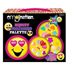 Emoji Designed Beauty Makeup Palette - Kids Pretend Makeup Kit - Cute Emoji Shaped Vanity - Non-Toxic and Washable