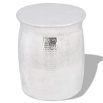 vidaXL Taburete o mesita Auxiliar de Material Aluminio ...