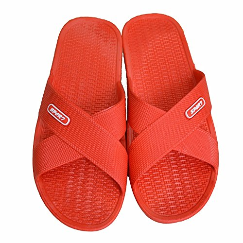 On Happy Sandals Bathroom Shoes Mule for Slip Slide House Adult pink Sole Soft Shower Foams Slippers Non slip Pool Lily BrxrRq0wE
