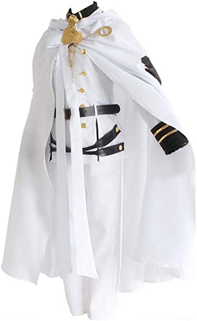 Seraph of the End Mikaela Hyakuya Cosplay costume White colour uniform overcoat