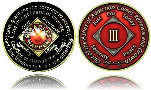 NutraTek Global Solutions L.L.C NA 3 Year Gold Color Tri-Plated Recovery Medallion, Coin, Token price tips cheap