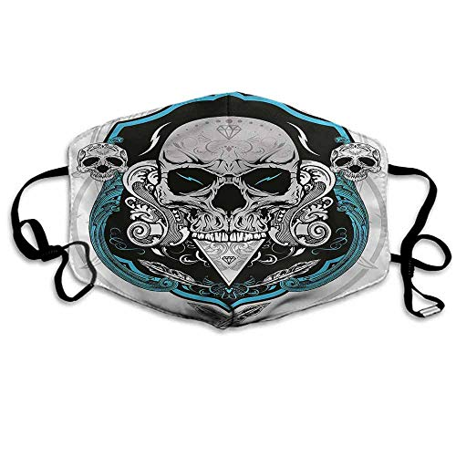 Skull Fashion Mouth Mask Mexican Dead Head Skeleton for Cycling Camping Travel W4