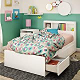 """Product review for South Shore Reevo Twin Mates Bed With Bookcase Headboard (39""""), Pure White"""