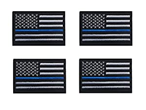 Tactical USA Flag Patch Law Enforcement Thin Blue Line American Flag US United States of America Military Morale Patches