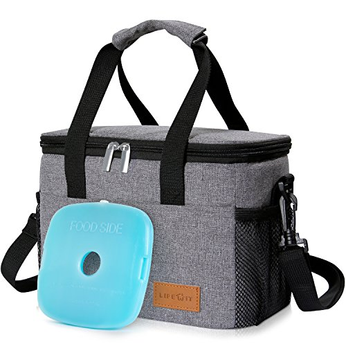 Lifewit Insulated Lunch Box Bag Thermal Bag with Ice Pack