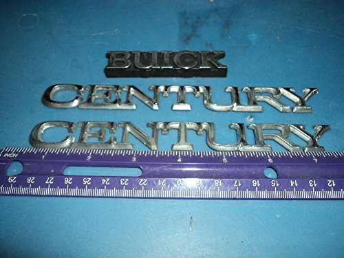 93-96 Buick Century Side Fender Decorative Emblem Logo Nameplate Set of 3 Fender 94 95 96 Car