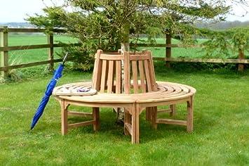 Home Life Direct Circulaire Arbre Banc De Jardin En Teck Bancs De