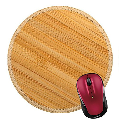 (Liili Round Mouse Pad Natural Rubber Mousepad Wood Texture A Detailed Photo of a Structure of The Pressed Bamboo Image ID 12239465)