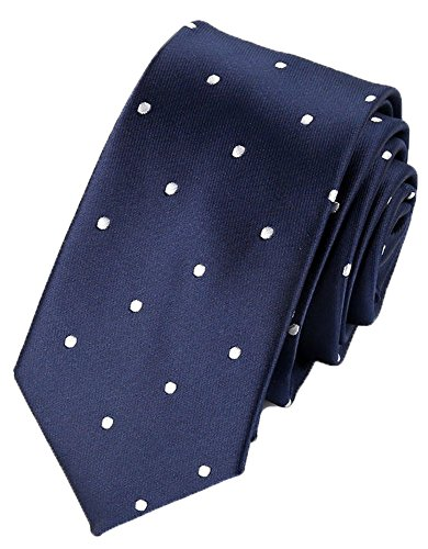 Flairs New York Collection Neck Tie (Prussian Blue/White [Polka Dots])