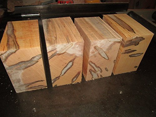 (Ship from USA) FOUR (4) AMBROSIA MAPLE BOWL BLANKS LUMBER WOOD LATHE CARVE 6 X 6 X 3