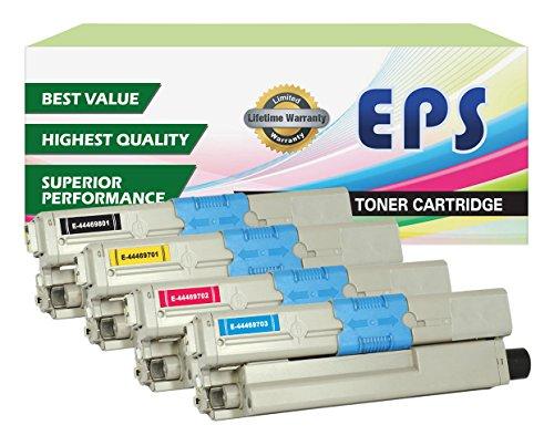 EPS Replacement Toner For Oki Okidata C310dn C330dn C510dn C530dn MC362w MC562w (Black + CMY)
