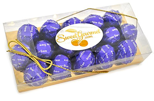 SweetGourmet Sugar Free Dark Chocolate Cordial Cherry (8oz Gift Box)