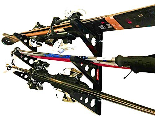 - StoreYourBoard Ski Storage Rack, Horizontal Wall Rack