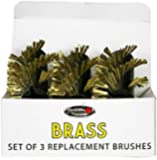 Grillbot GBB201-BRASS Brass Replacement Brush, 3-Pack