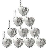 10pcs Crystal Diamond Heart 32GB USB 3.0 Flash Drive Wedding Gift USB 3.0 Memory Stick 32G