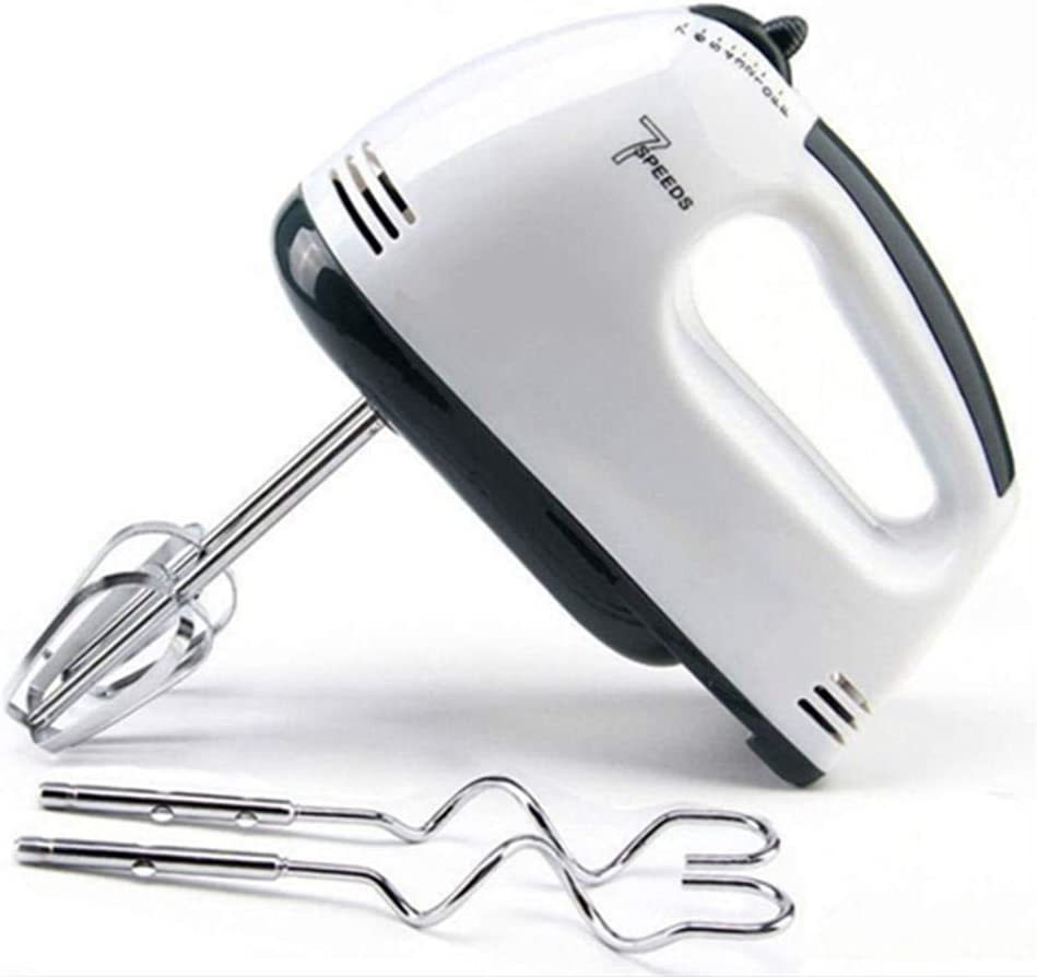7-Speed Lightweight Handheld Whisk, Multi-purpose Hand-Held Electric Mixer ,Immersion Blender for Food Whipping,Egg Whisk,Cake Mixer,Milk Frother,Bread MakerBeater (White)