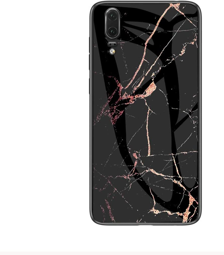 Felfy Vidrio Templado Hard Back Cover Compatible con Huawei P20 R/ígida Silicona Case,Compatible con Huawei P20 Funda M/ármol Creativa Dise/ño Brillante Cover de TPU Hard Slim Case.Verde