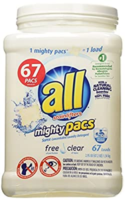 All Mighty Pack Free Clear Laundry Detergent