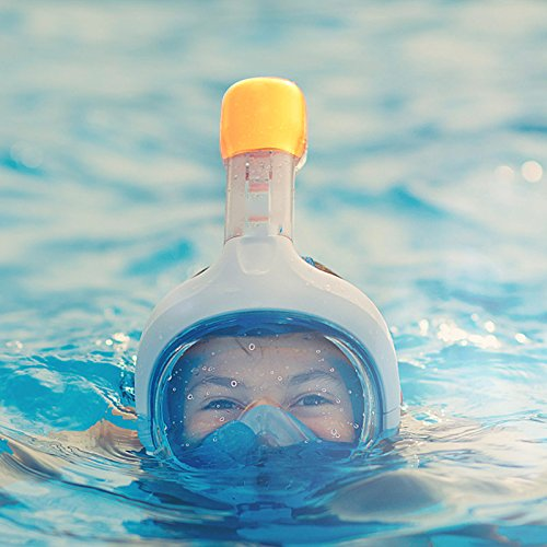 Amazon.com : Diving Mask Snorkel Swimming Training Scuba Mergulho Full Face Snorkeling Mask (blue, s) : Sports & Outdoors