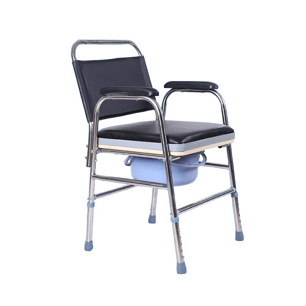 Old Man Sitting Chair - Stainless Steel Mobile Toilet Chair (Bath Chair), Safe and Durable, Suitable for The Elderly Pregnant Women, Etc by SSZZ
