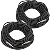 Seismic Audio - Pair of 100 Feet 1/4'' to 1/4 Pro Audio Speaker Cables 14 Gauge - Heavy Duty