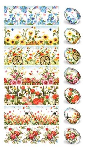 Pellicola termoretraibile per decorare uova di Pasqua, Con 21 diversi motivi Per 21 uova (2.17.20)