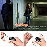 FOABER Personal Alarm Keychain, Emergency Siren Song 4 Pack 120 dB Safety Self Defense Security Alarms Key Chain, Purse Safe Sound Alarm Device for Women Elderly Kids Night Workers