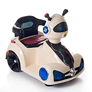 electric cars for kids to ride robot head drive rover ride on motorized with battery operated powered for toddlers 35 millimeter jack to play mp3s